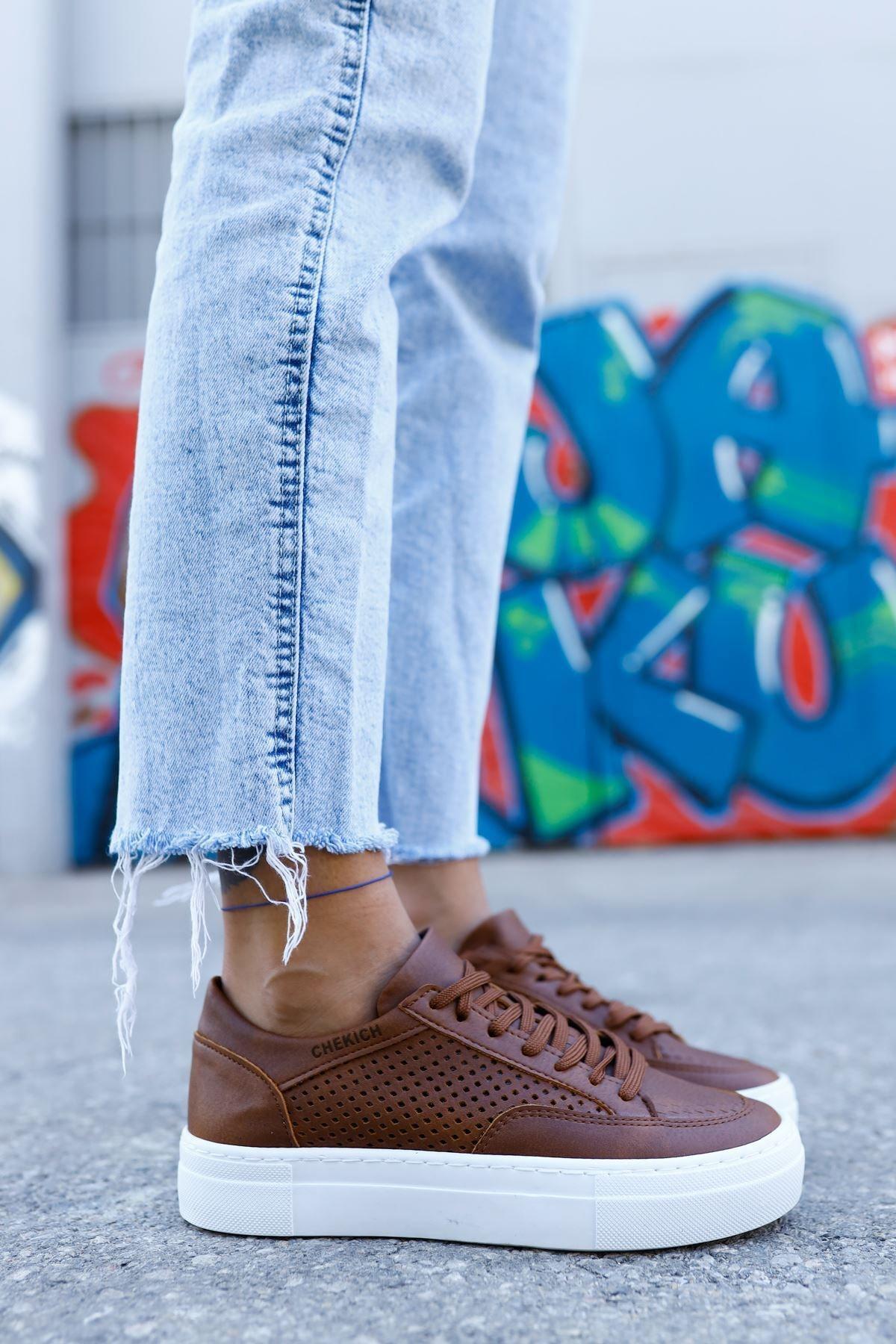 Chekich Ch015 Bt Kadın Ayakkabı Taba 1