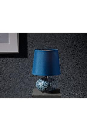 English Home Odes Porselen Abajur 14x14x22,5 Cm Lacivert