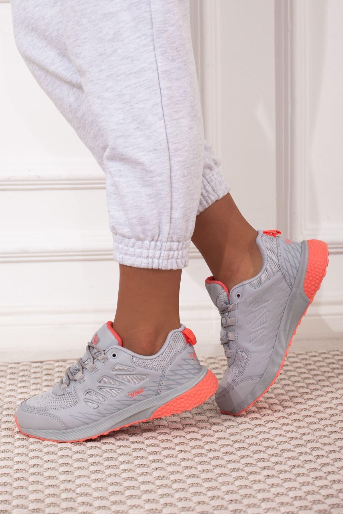 Jump Gri Pembe Bağcıklı Kadın Spor Ayakkabı • A212kjmp0008 2