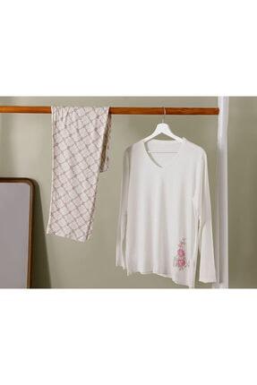 English Home Art Bloom Viskon Pijama Takımı S-m Beyaz