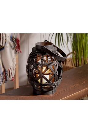 English Home Fancy Bambu Fener 19x25 Cm Siyah