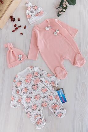 Babymod Kız Bebek Pembe Ikili Uzun Kollu Tulum Takım