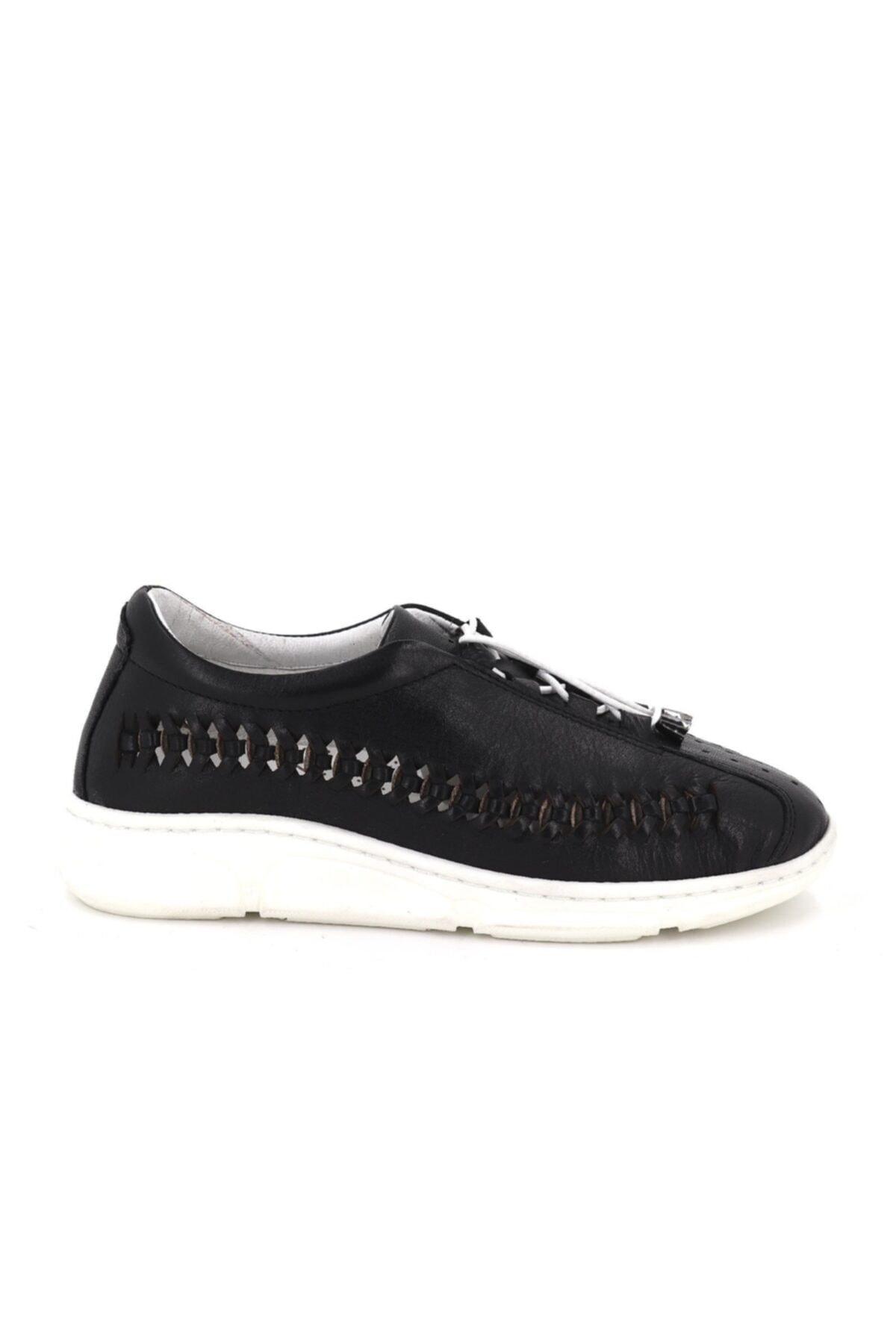 Hobby Divadonna Siyah Ortopedik Kadın Günlük Ayakkabı Dd2229 1