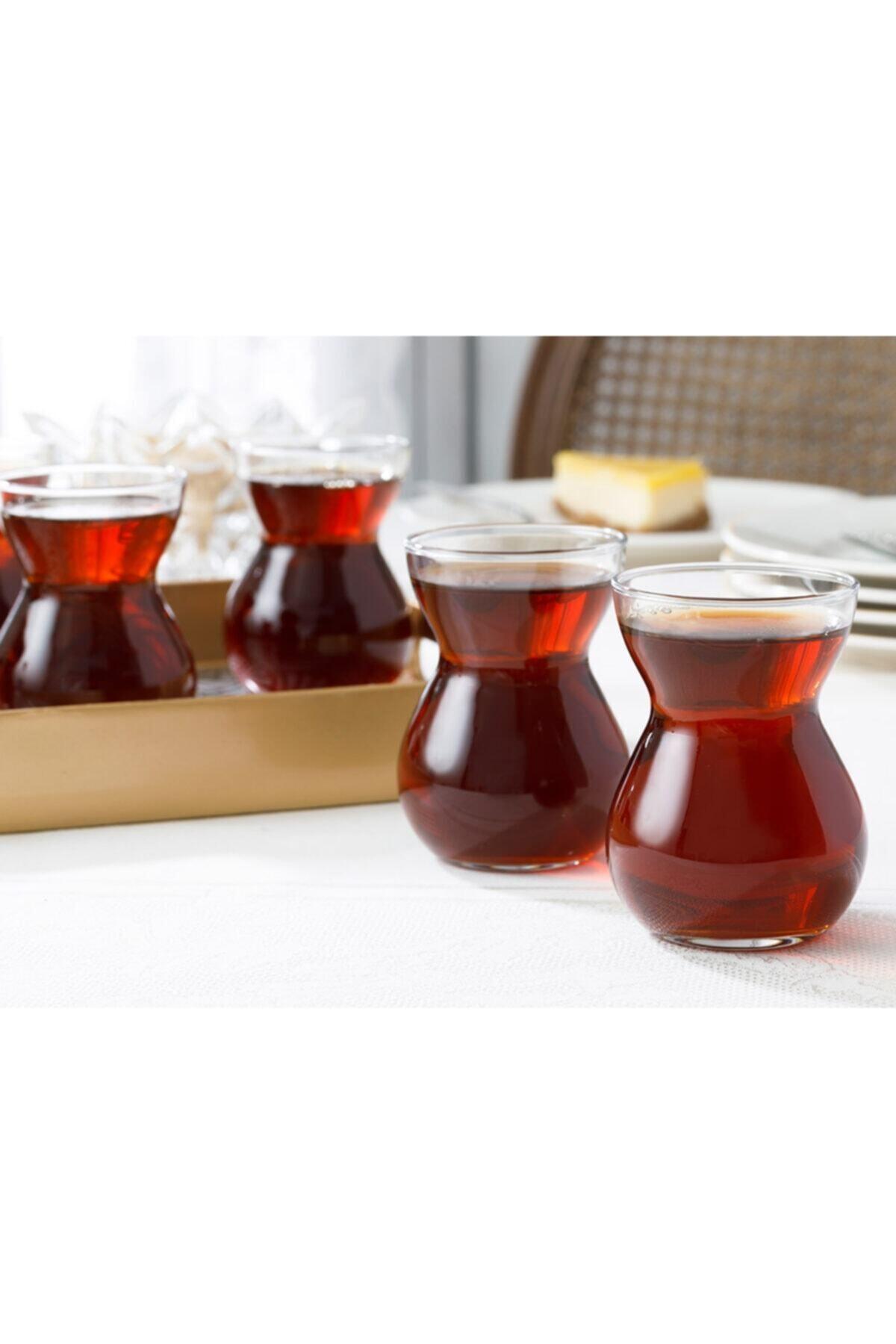 English Home Etnik Cam 6'lı Çay Bardağı 140 Ml Şeffaf 2