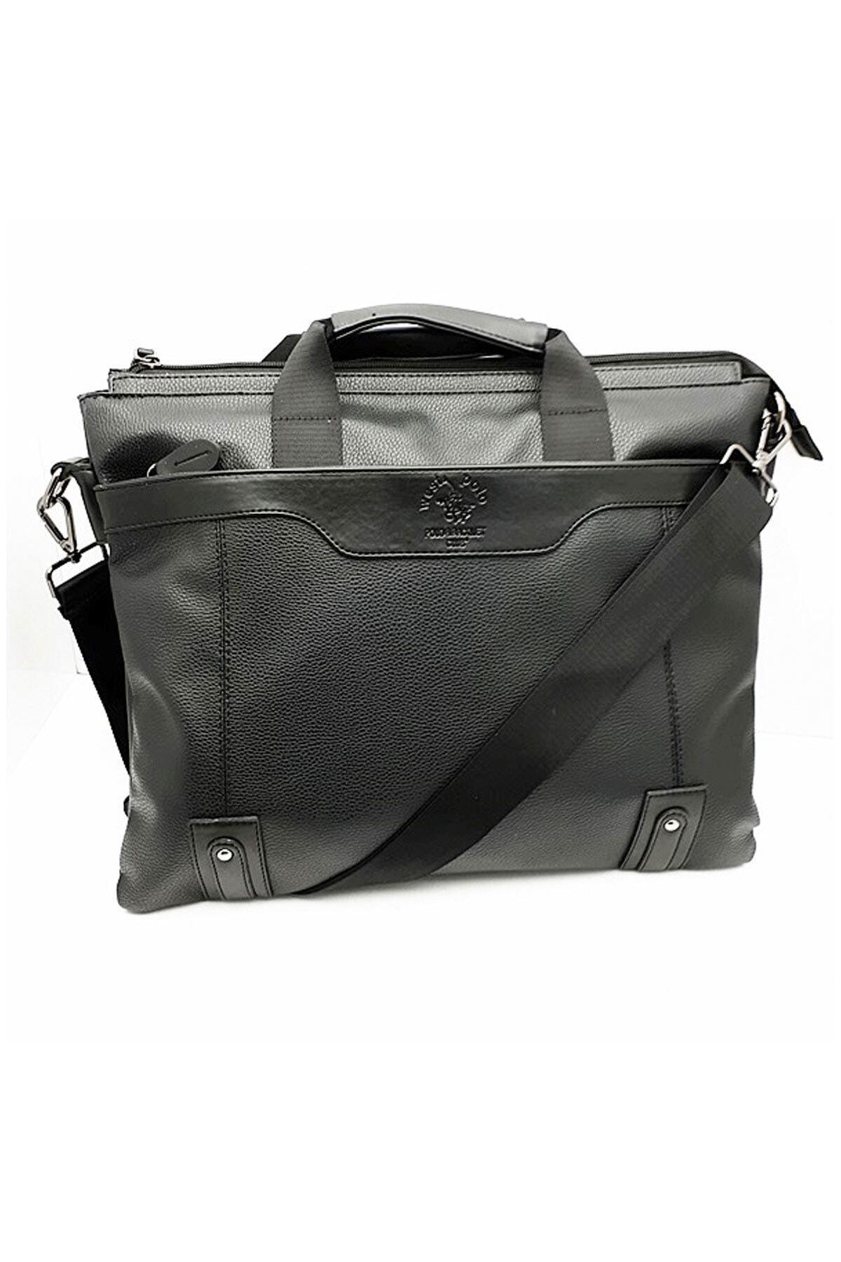 Westpolo Laptop & Evrak Çantası Suni Deri Siyah 1