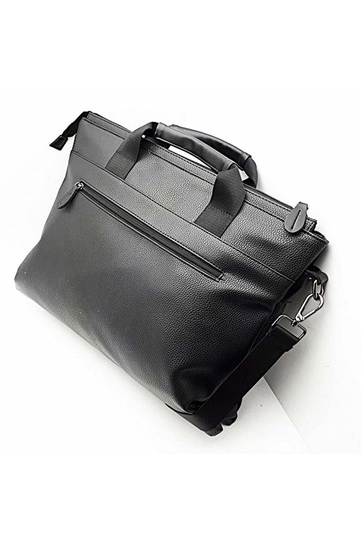 Westpolo Laptop & Evrak Çantası Suni Deri Siyah 2