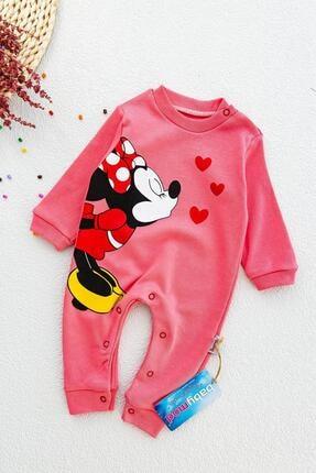 Babymod Minnie Mouse Baskılı Kız Bebek Tulum