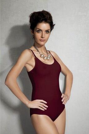 Doreanse Kadın Modal Ip Askılı Bordo Body 12101