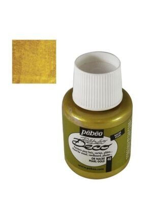 Pebeo Deco Mat Ahşap Boyası 110ml Şişe Inci Altın