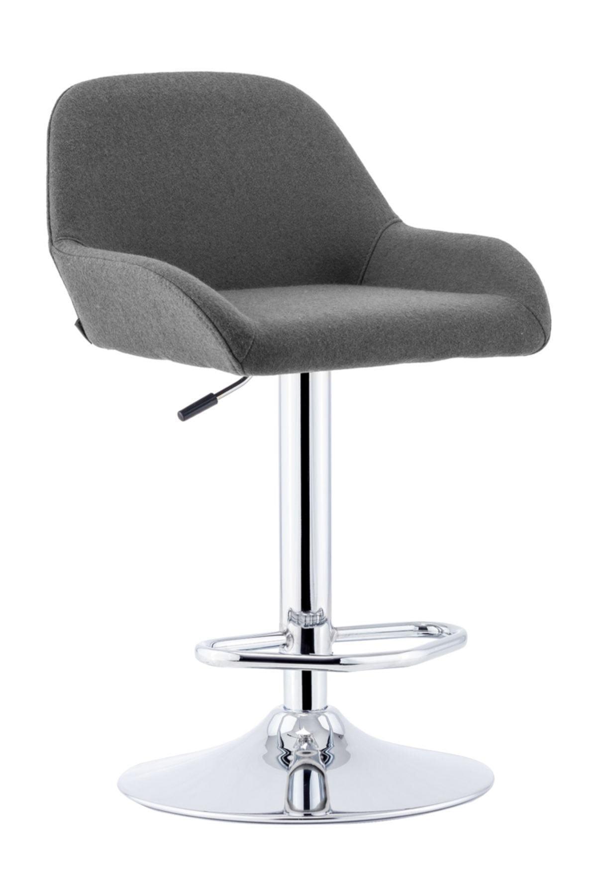 Sandalye Online Gri Firuze Bar Taburesi 1