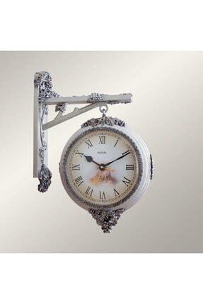 Regal 8116 Wı Çift Taraflı Asma Figürlü Beyaz (Istasyon) Duvar Saati Dekoratif