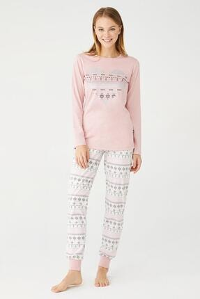 U.S POLO U.s. Polo Assn. Kadın Yuvarlak Yaka Pijama Takımı 16402