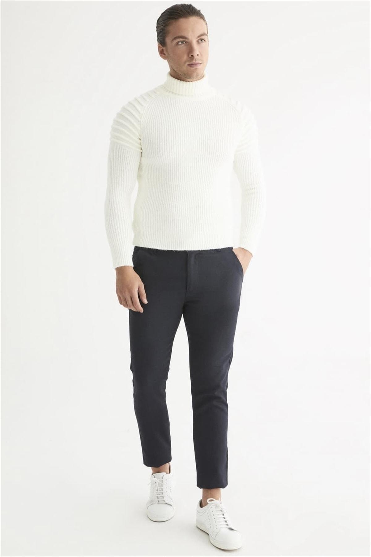 Efor Atp 016 Slim Fit Lacivert Spor Pantolon 1