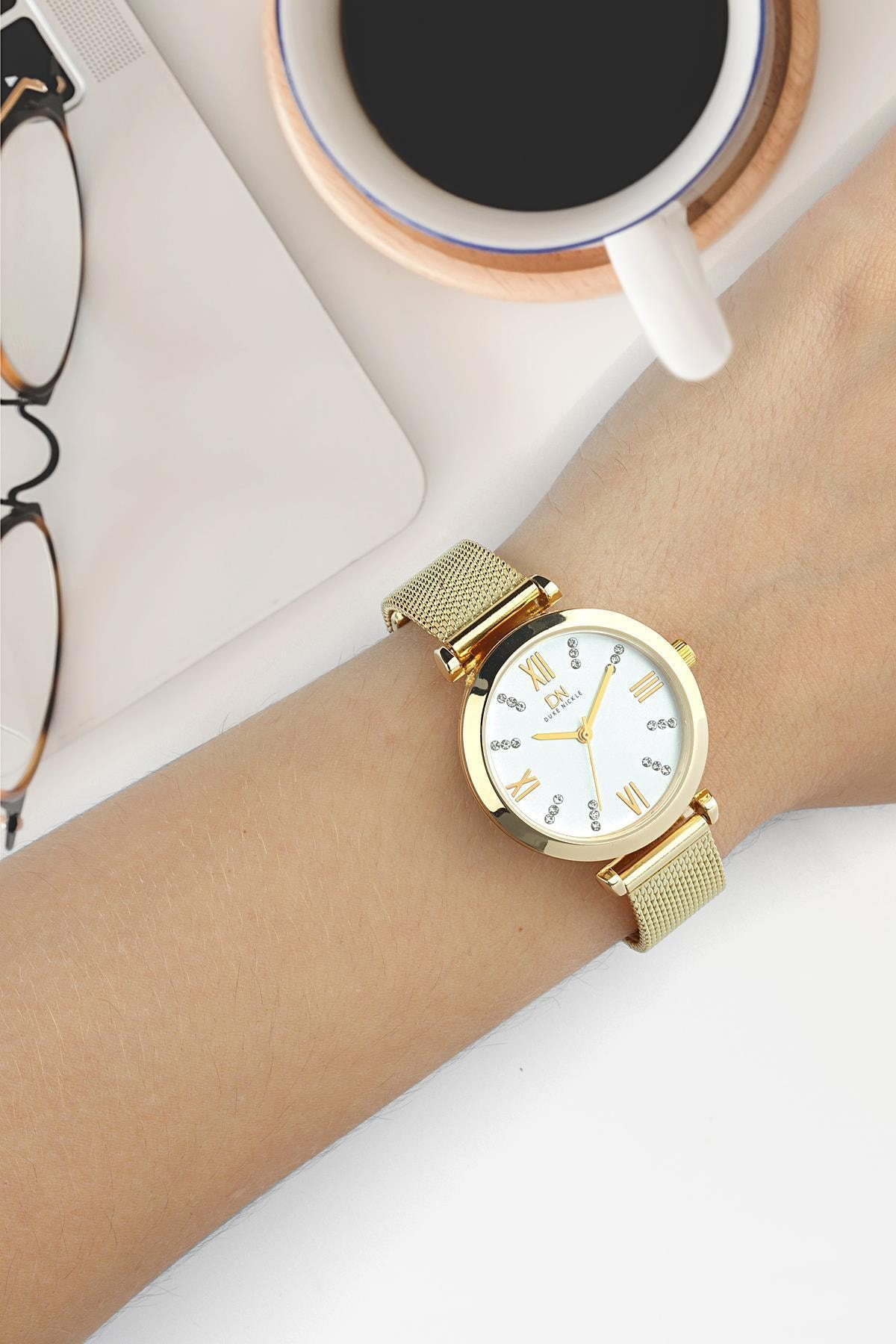 Duke Nickle Dbg1019 Kadın Kol Saati Hasır Sarı 1