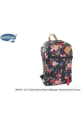 ADDISON 300441 15.6 Çiçek Desenli Sport Bilgisayar Notebook Sırt Çantası