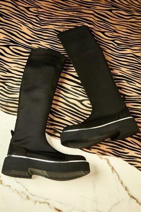 Bambi Siyah Kadın Çizme K0501401687