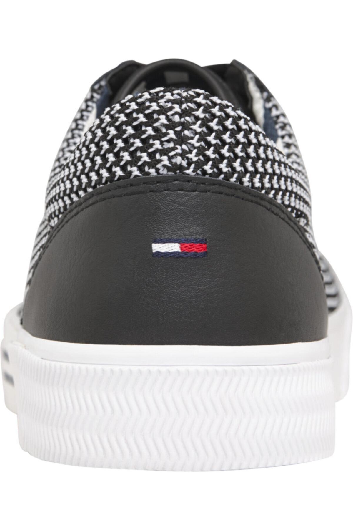 Tommy Hilfiger Erkek Siyah Sneaker Textıle Cıty Sneaker EM0EM00199 2