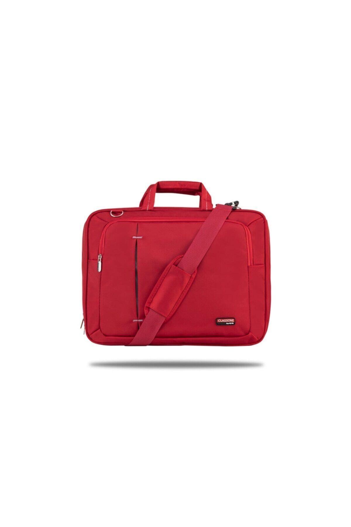 Classone Kırmızı Ul162 15,6 Inç Uyumlu Laptop Notebook El Çantası 1