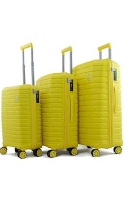 GROUND 10658 Sarı Pp Kabin Boy Valiz