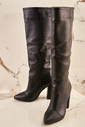 Bambi Siyah Kadın Çizme K06391135