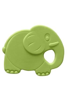 Bambino Kauçuk Yumuşak Diş Kaşıyıcı - Fil Figürlü Yeşil