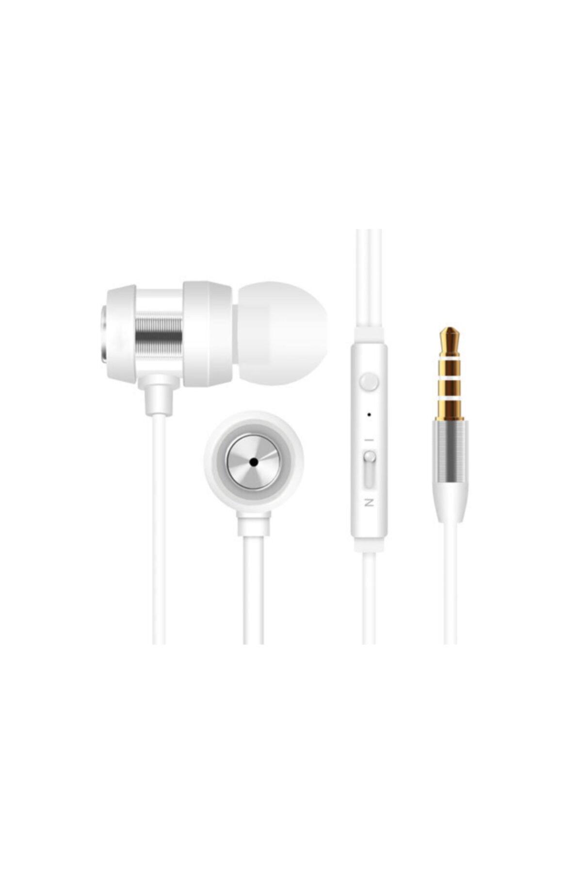 Snopy Sn-j01 Telefon Uyumlu Kulakiçi Beyaz/gümüş Mikrofonlu Kulaklık 1