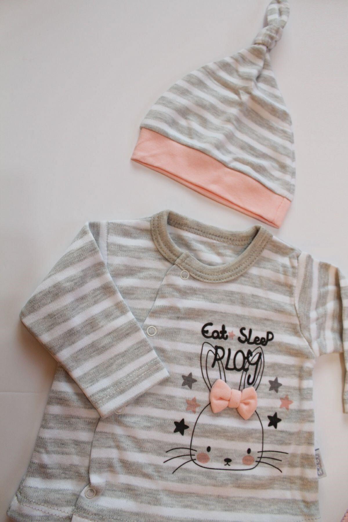Sebi Bebe Sebi 9160 Tavşanlı Kız Bebek 10'lu Hastane Çıkış Seti 2