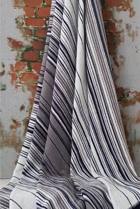 Özdilek Pamuklu Çift Kişilik Battaniye 180x200 Striped Lacivert