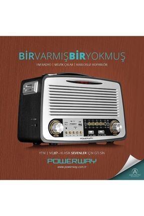 POWERWAY Nsj07 Nostalji Radyo Bluetooth Fm Radyo Usb Girişi Nsj07