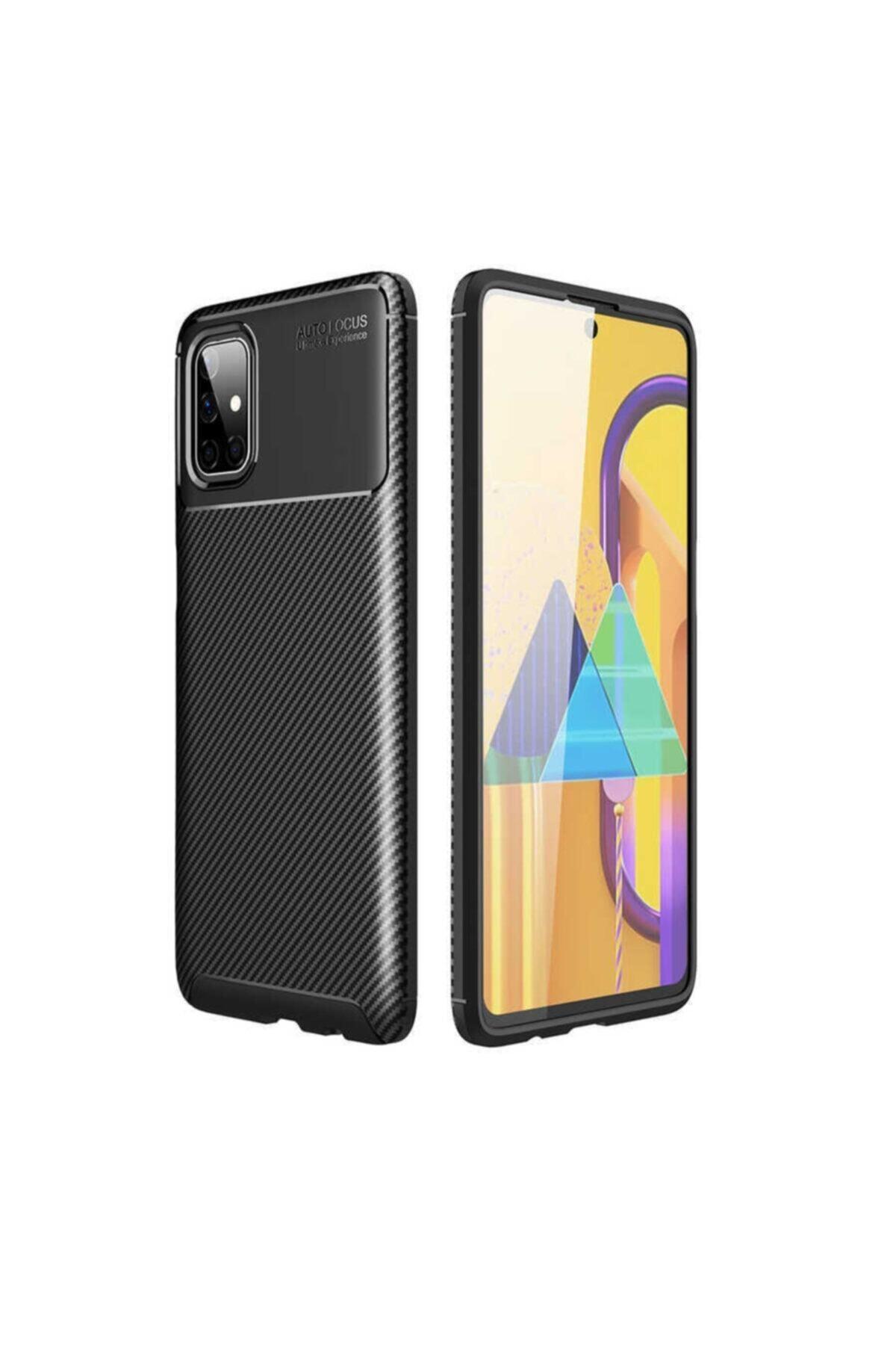 ankacep Samsung Galaxy M51 Kılıf Negro Karbon Tasarımlı Silikon Kapak 1