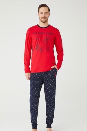 U.S POLO U.s. Polo Assn. Erkek Yuvarlak Yaka Pijama Takımı 18333