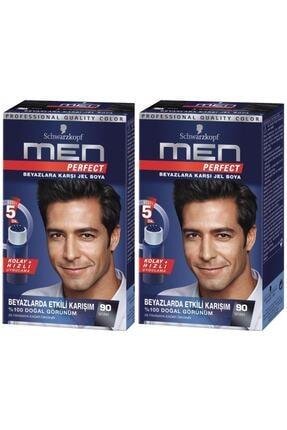 SCHWARZKOPF HAIR MASCARA Perfect Men 90 Siyah Saç Boyasıx 2 Adet