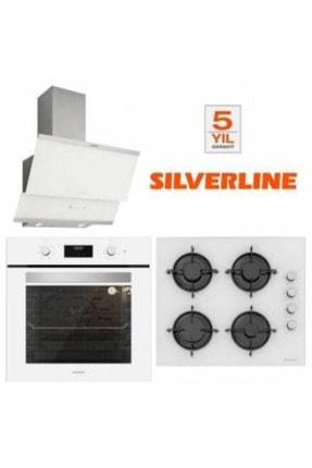 Silverline Beyaz Cam Ankastre Set Bo6502w01 - Cs5349w01 - 3420 Classy