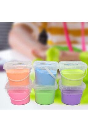 EVENTİ 6 Renk 6 Adet Kova Slime Toplam 2400 gr Ultra Kalite