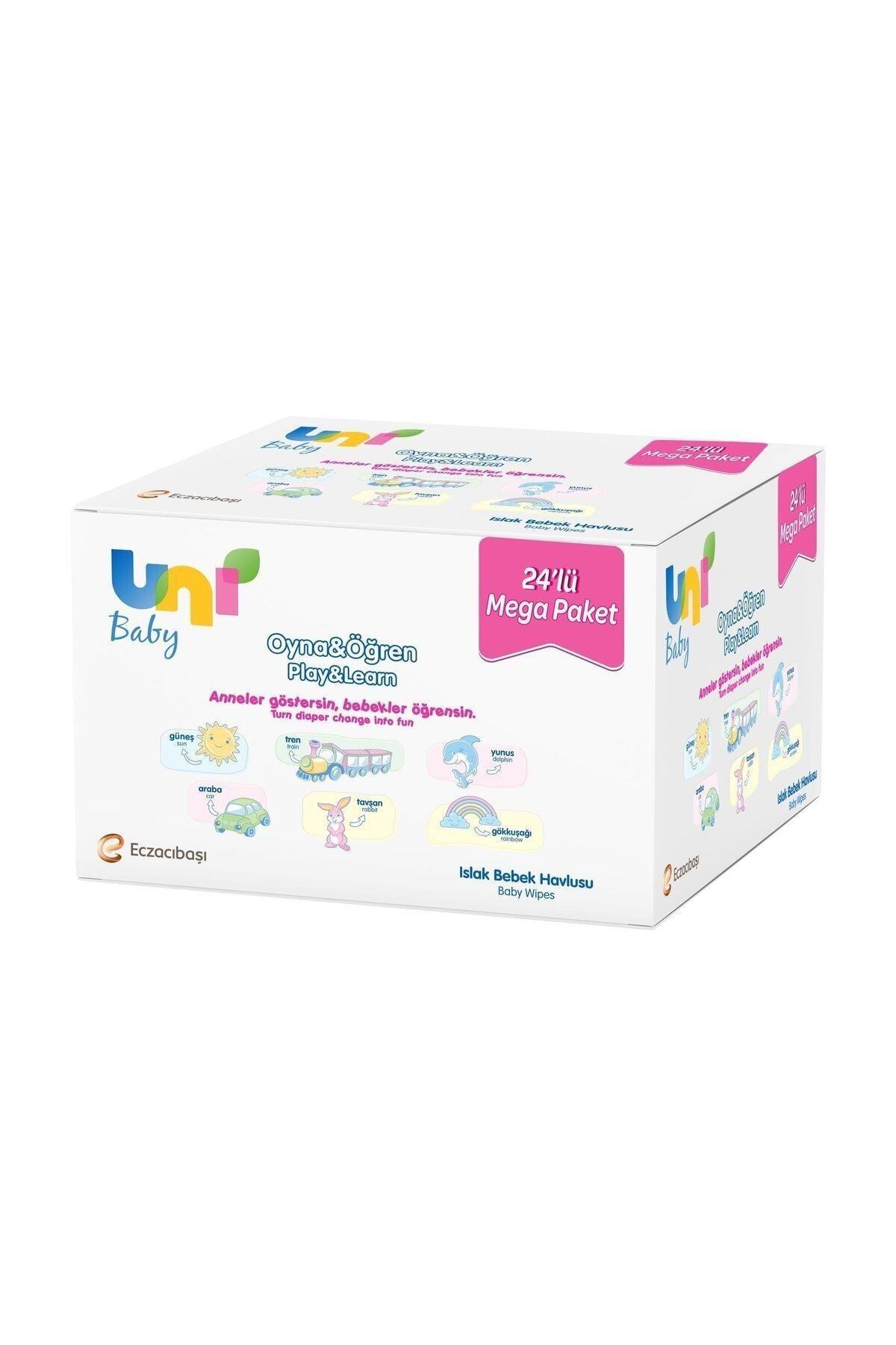 Uni Baby Oyna Öğren Islak Mendil 24'lü - Fırsat Paketi 1248 Yaprak 1
