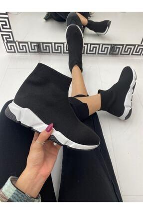 ELSESHOES Kadın Siyah Bogazlı Spor Ayakkabı