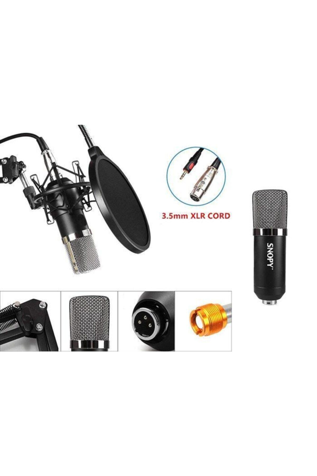 Snopy Sn-03p Profesyonel Stand Ve Filtreli Youtuber Ve Masaüstü Mikrofon 2