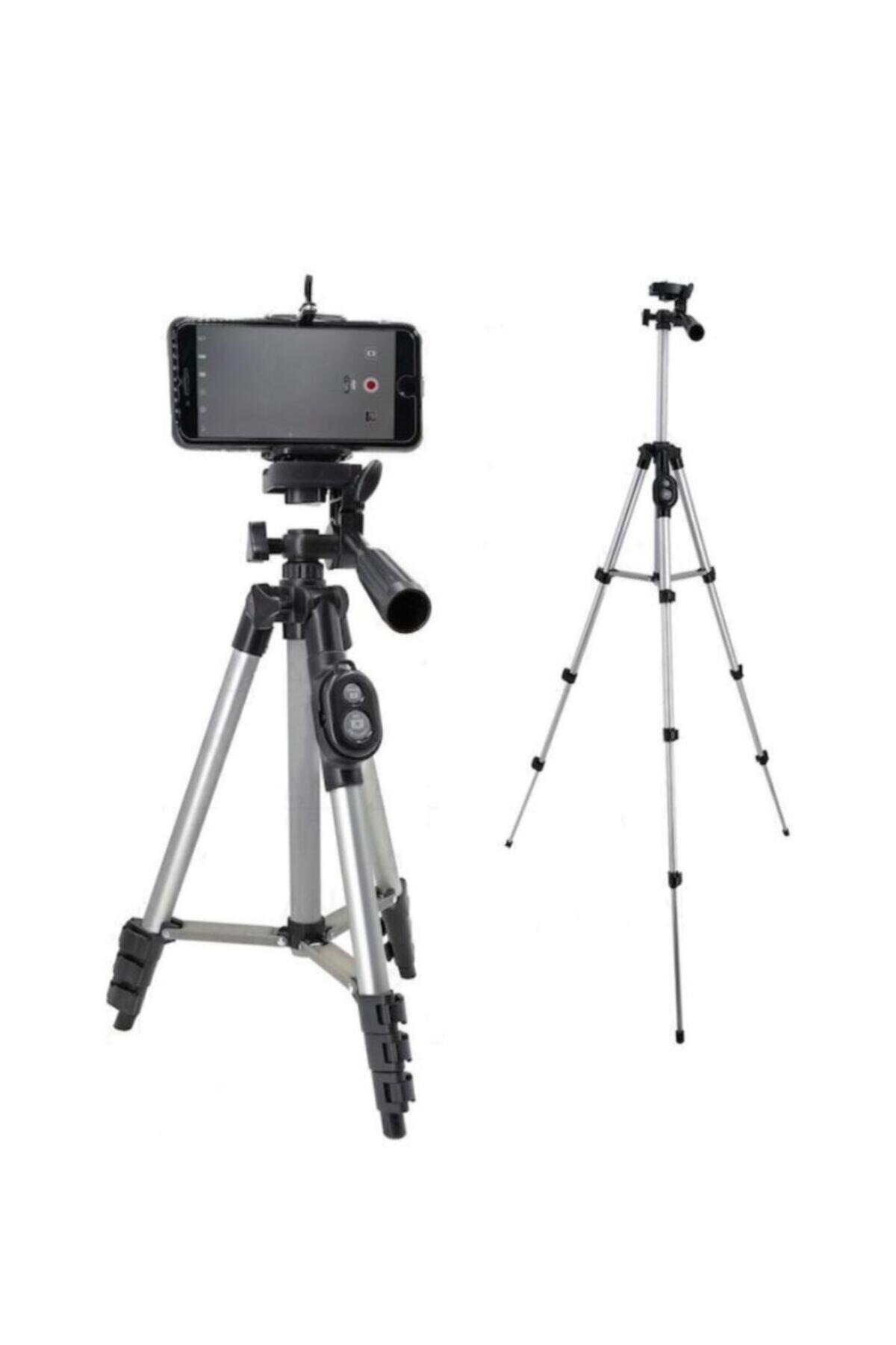 Auris Profesyonel Fotoğraf Video Çekimi 106 Cm Tripot Telefon Tutucu 1