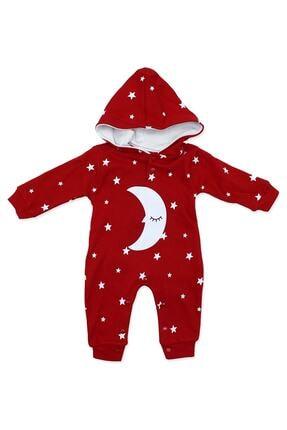 Murat Baby Uykucu Aydedeli Yıldızlı Kırmızı Bebek Tulumu K779