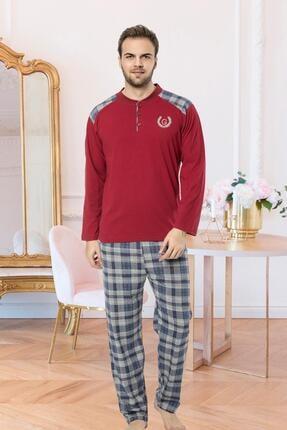 Oksit Gls 3253 Ekoseli Kışlık Uzun Kollu Pijama Takımı