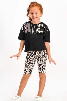 ROLY POLY Dance Siyah Kız Çocuk Tayt Takım Rp1807-c