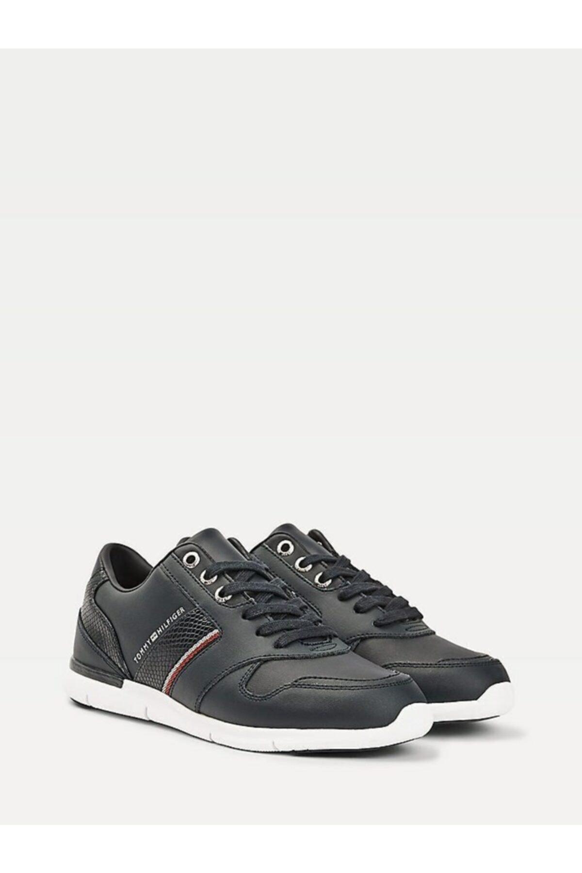 Tommy Hilfiger Kadın Mavi Sneaker Corporate Lıghtweıght Sneaker FW0FW05244 1