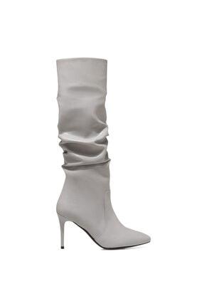 Nine West PINTO Gri Kadın Ökçeli Çizme 100582071