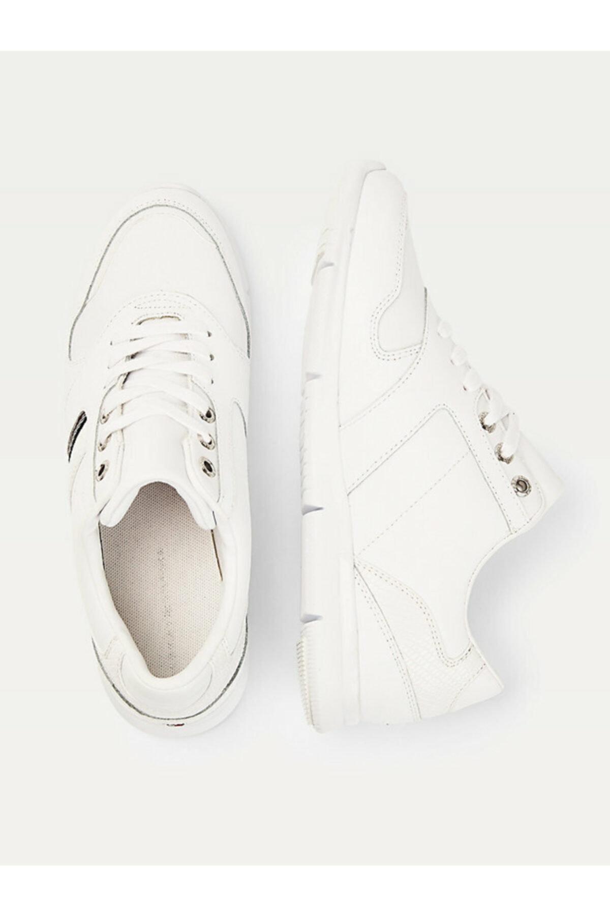Tommy Hilfiger Kadın Beyaz Sneaker Corporate Lıghtweıght Sneaker FW0FW05244YBR 2