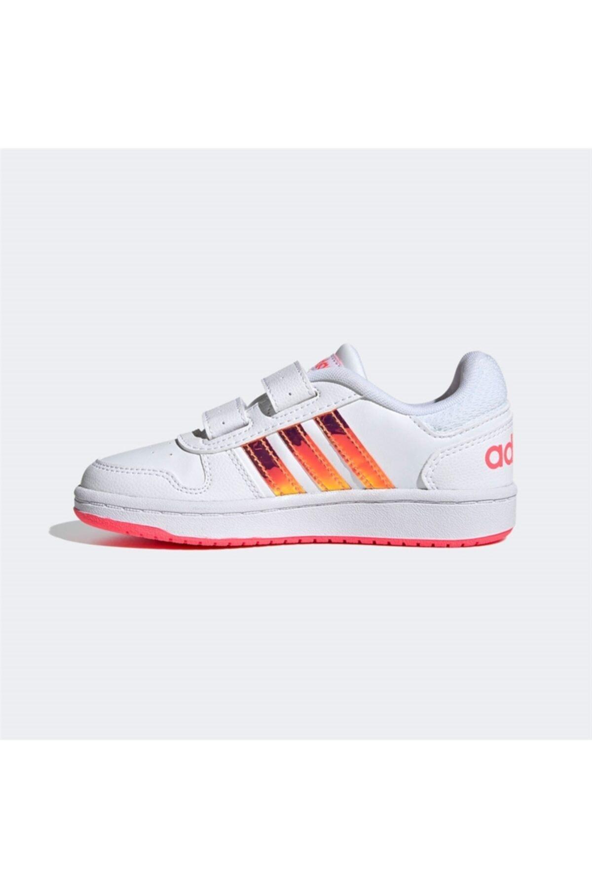adidas HOOPS 2.0 CMF C Beyaz Kız Çocuk Sneaker Ayakkabı 100663752 2