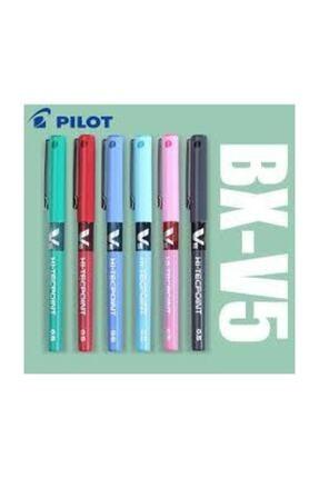 Pilot V5 Iğne Uçlu Roller Kalem 6 Renk Set
