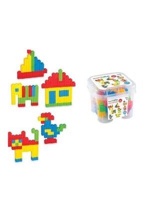 DEDE Lego Oyuncak Tik Tak Puzzle 62 Parça