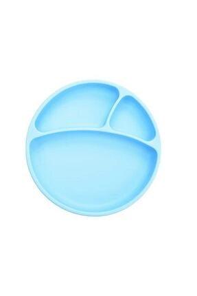 Oioi Porsiyon Vakum Tabanlı Silikon Tabak Mavi