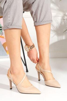 derithy Kadın ten  Livosy Topuklu Ayakkabı--byc1108