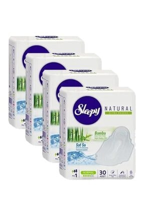 Sleepy Natural Ultra Hassas Hijyenik Ped Normal 30'lu 4'lü Set